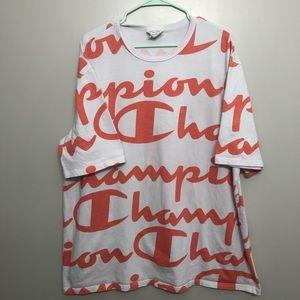 Champion All Over Print Big Logo Heritage Shirt